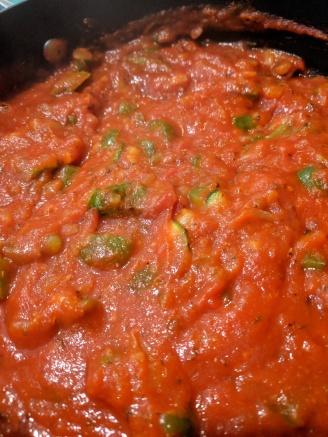 Red pasta sauce
