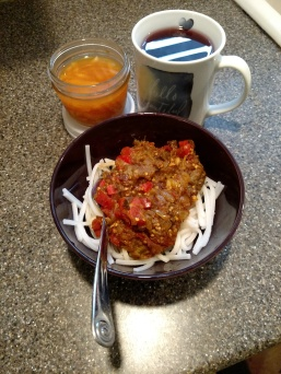 Aubergine curry with sparks and Sam's tea blend.jpg