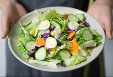Cucumbers, carrots, lettuce, greens,