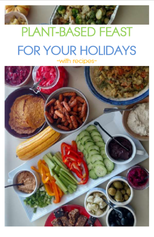 plant based hanukka, plant based thanksgiving, plant based christmas, plant based new year, plant based holiday