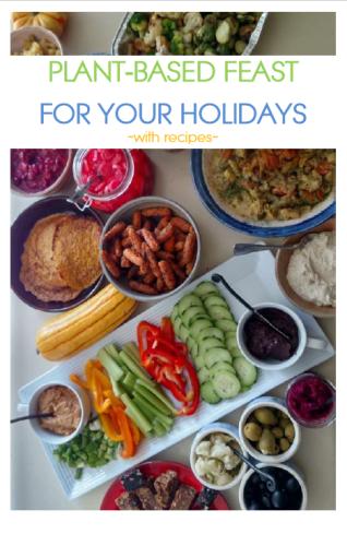 plant based hanukka, plant based thanksgiving, plant based christmas, plant based new year, plant based holiday